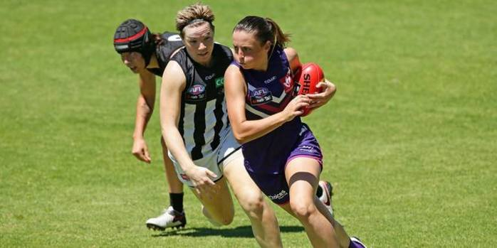 AFLW Fremantle Vs Collingwood at Optus Stadium
