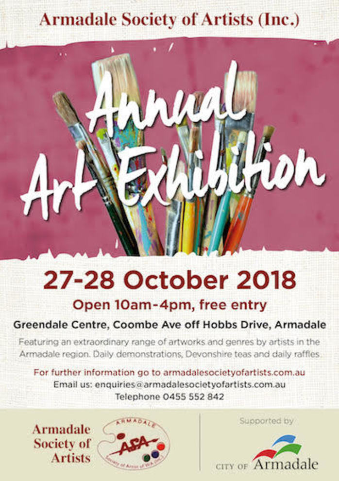 Armadale Society of Artists - 2018 Annual Art Exhibition Weekend