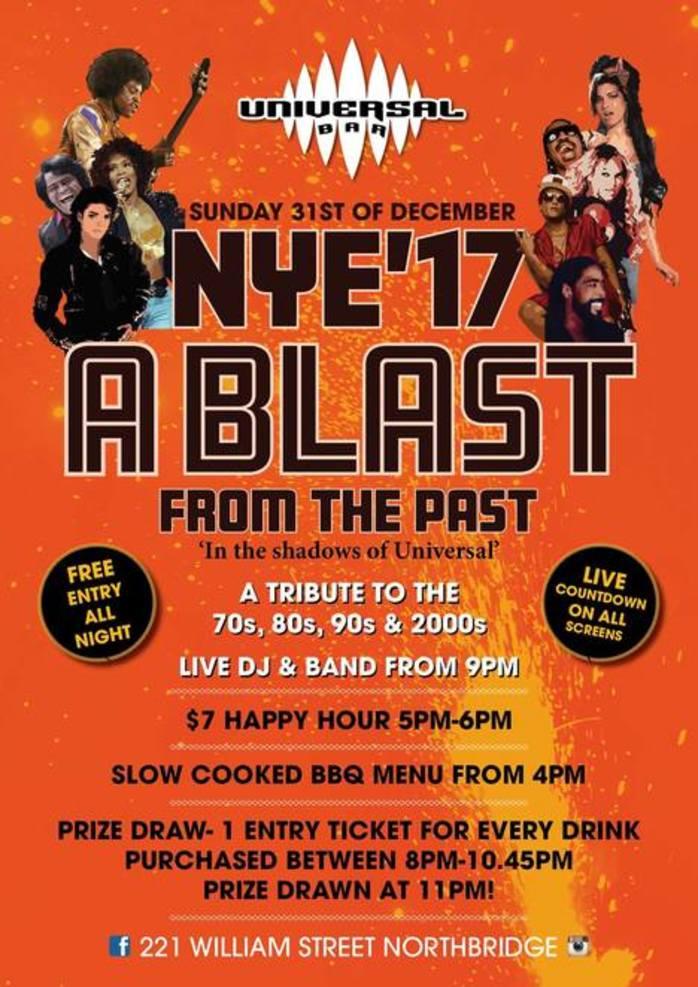 Free entry: A Blast From The Past New Year's Eve