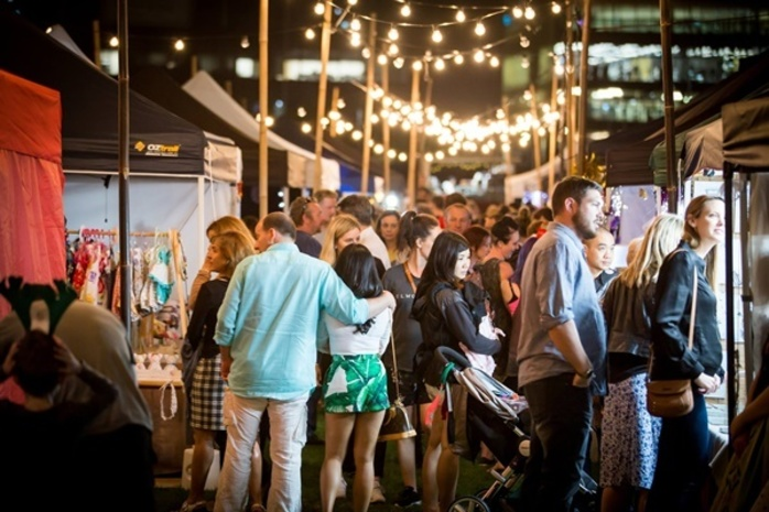 Perth Makers Market - Twilight at Yagan Square