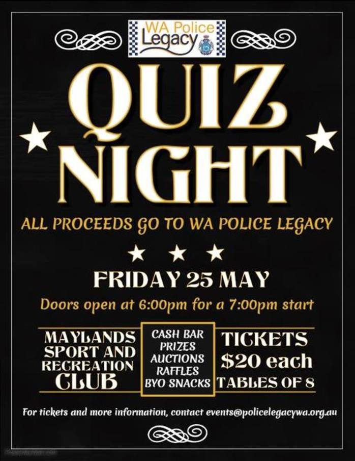 WA Police Legacy Quiz Night